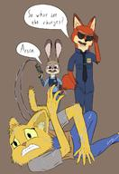 Zootopia character:Judy_Hopps character:Katia_Managan character:Nick_Wilde criminal_scum crossover law_enforcement
